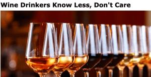 diminuisce la conoscenza del vino